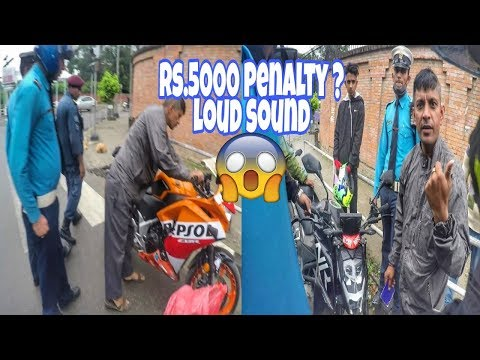 Badluck Ride time - Traffic caught Loud Sound bikes|Number plate||CBR,Nk250 and others||Part 1