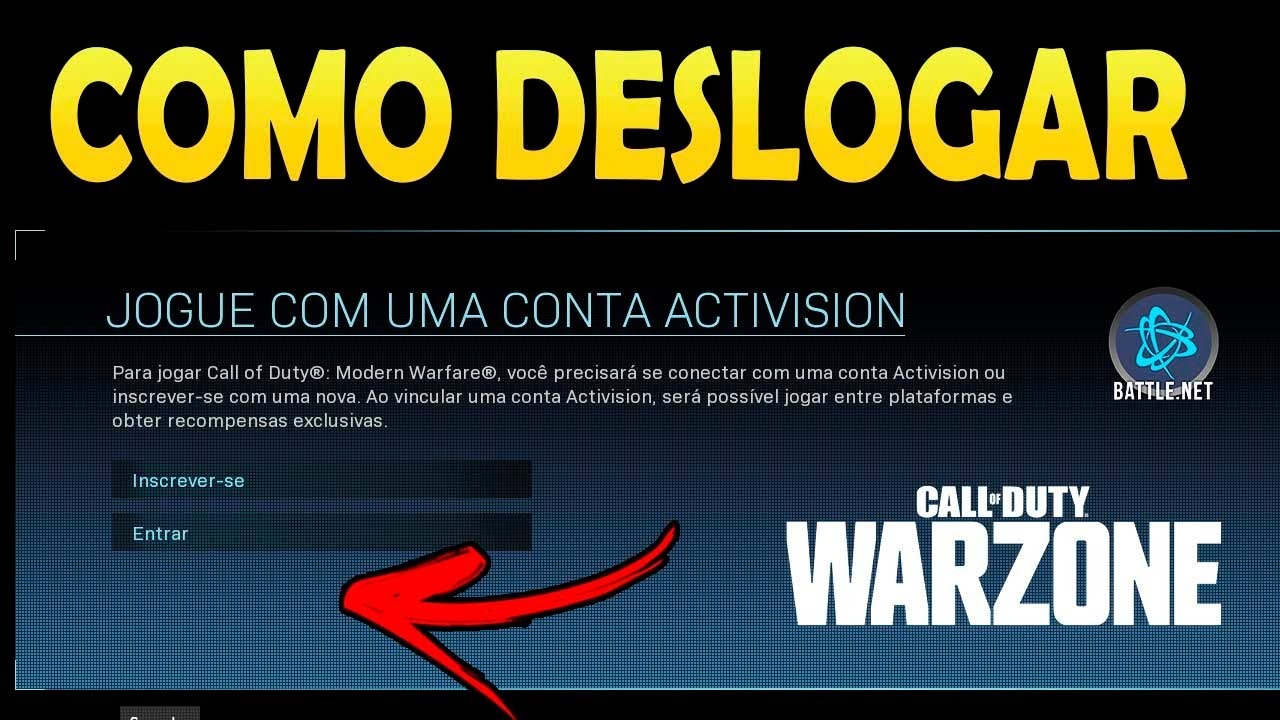 COMO DESLOGAR DO CALL OF DUTY WARZONE NA BATTLE.NET PARA LOGAR COM OUTRA CONTA