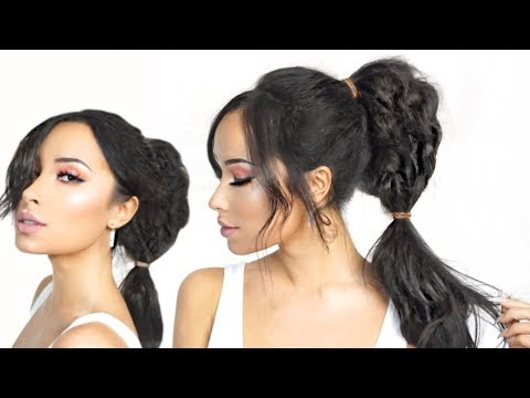 Japan Inspired Messy Edgy Updo Hair Tutorial Ladycode Youtube