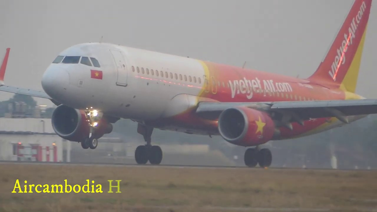 Vietjet Air Arrival at Siem Reap International Airport, 23-02-2020