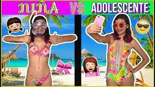 ¡NIÑA VS ADOLESCENTE EN VACACIONES! ♥ Lulu99