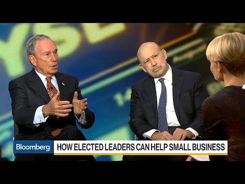 Blankfein and Bloomberg on Small Business, Bitcoin, Taxes