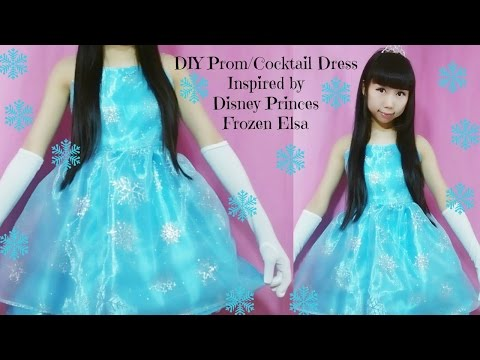 DIY Frozen Elsa Inspired Costume/Prom Dress - YouTube
