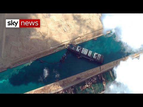 Maritime traffic jam: Ship blocking Suez Canal could take weeks to dislodge