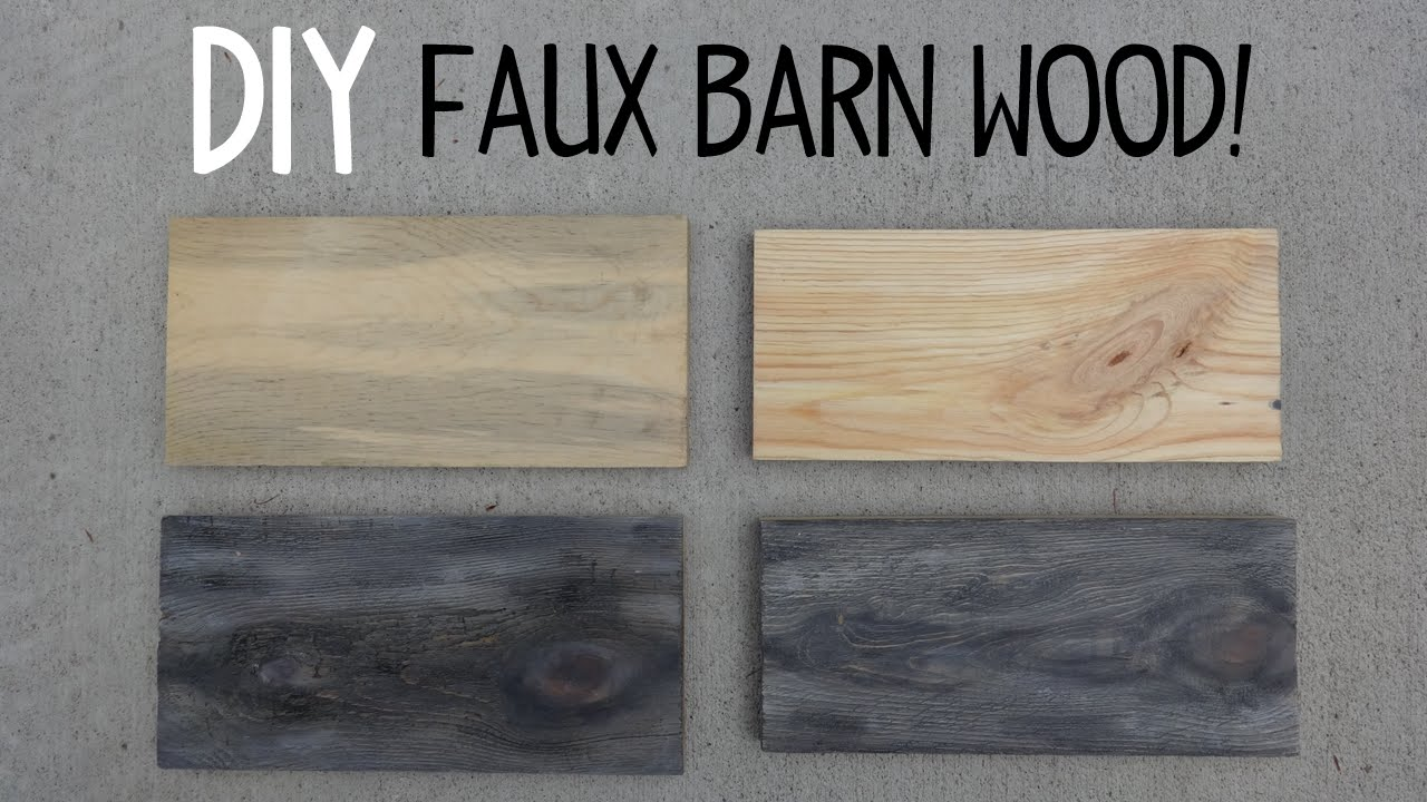 diy faux barn wood paint trick