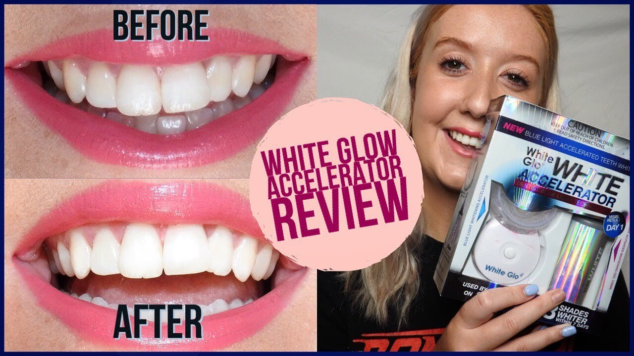 White Glow Accelerator Teeth Whitening Review Works Youtube