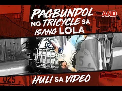 Pagbundol ng tricycle sa isang lola, huli sa video