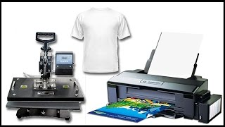 EPSON L1800 Печать фото на футболке (сублимация)