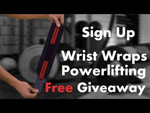 Wrist wraps powerlifting Giveaway! WinWristWraps.info