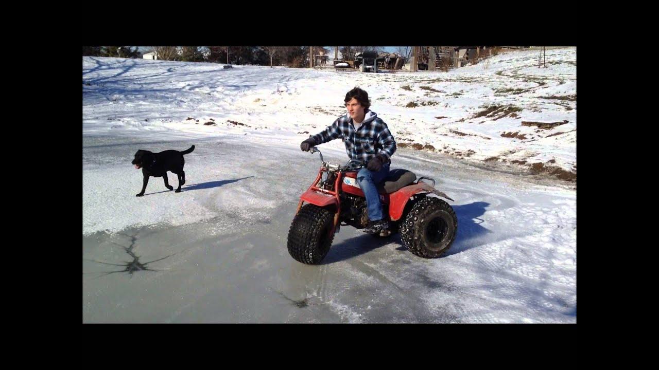3 Wheeler On A Frozen Pond   1985 Honda ACT 110