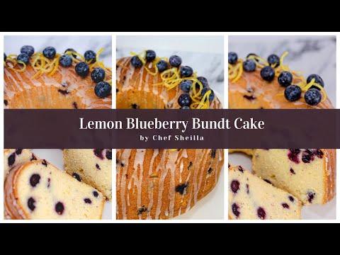 Lemon Blueberry Bundt Cake | Moist and Buttery Lemon and Blueberry Pound Cake |  Chef Sheilla