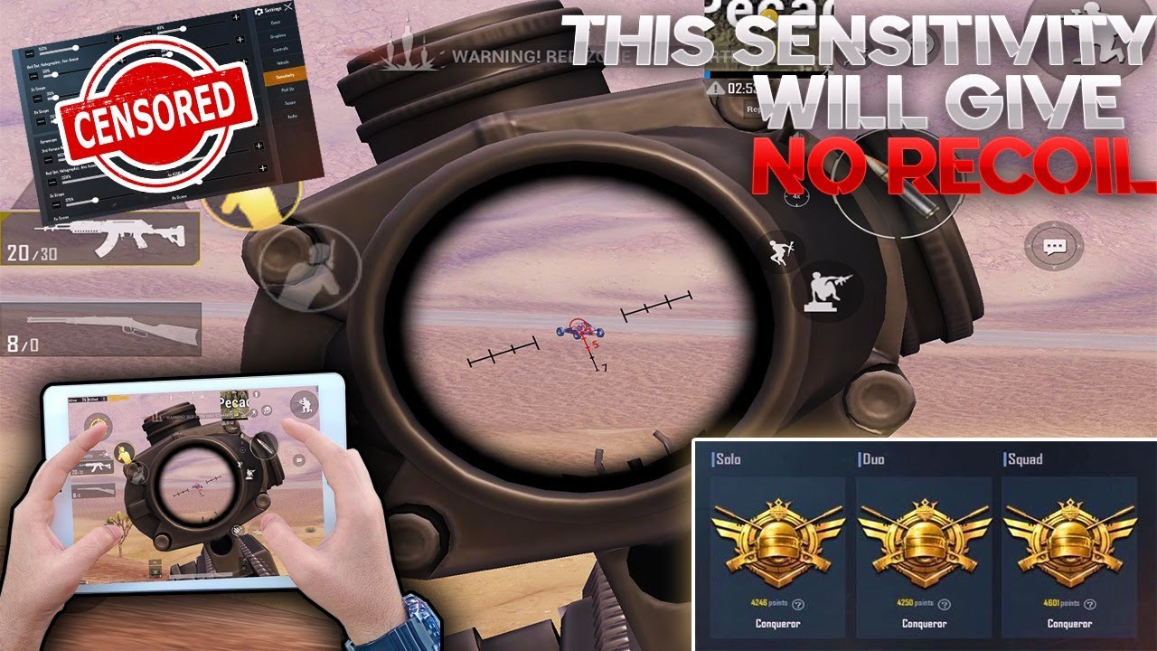 This Sensitivity Settings Will Give You No Recoil | PUBG Mobile