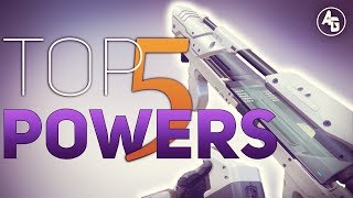 Top 5 Power Weapons in Destiny 2 (PVP)