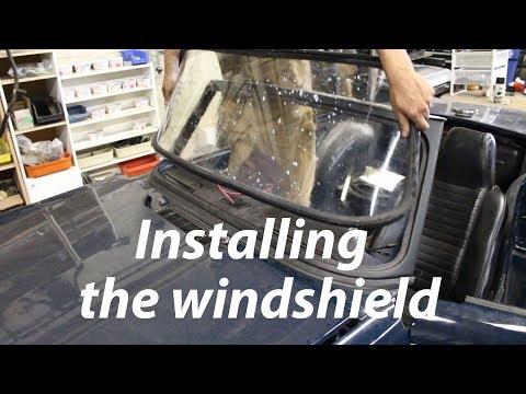 1973 Triumph TR6 Restoration - Part 29 - Installing The Windshield