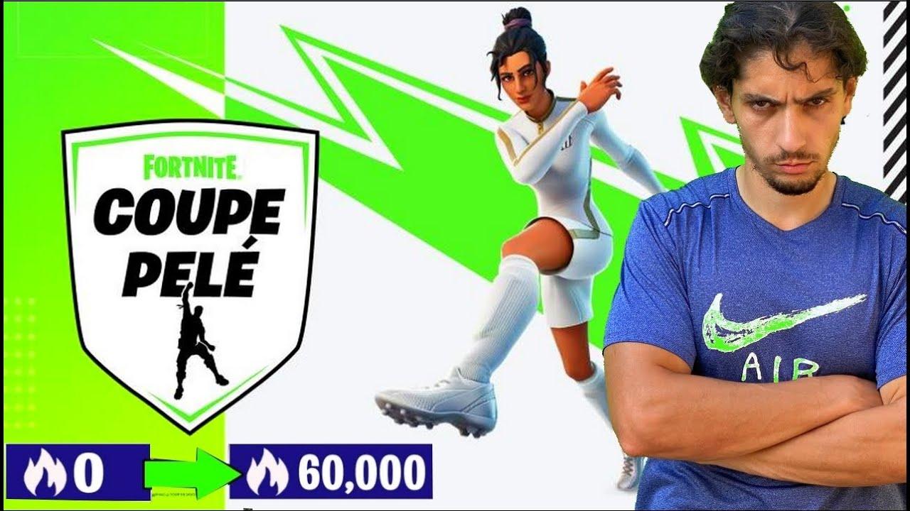 FORTNITE JE GAGNE LA CUP SOLO PELE FOOTBALL !