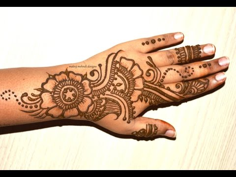 Easy Mehndi Tutorial : Easy mehndi design youtube makedes