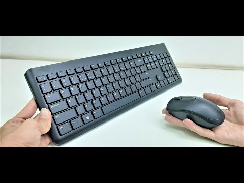 Full Size Wireless Keyboard & Mouse (Dell KM117) Unboxing & Testing