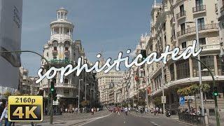 Calle Gran Via and Plaza de Cibeles, Madrid - Spain 4K Travel Channel