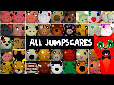 ALL JUMPSCARES Piggy Roblox | Все скримеры в Пигги роблокс | Сцены убийства всех персонажей 13 мин