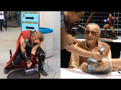 Real Thors Hammer at Comikaze (Stan Lee Signing!!!) | Sufficiently Advanced