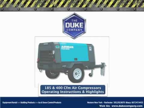 Towable Air Compressor Rental In Rochester NY And Ithaca NY- 185 Cfm & 400 Cfm - The Duke Company