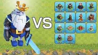 ผีหลวง VS ป้อมทุกป้อมในเกม Clash of Clans