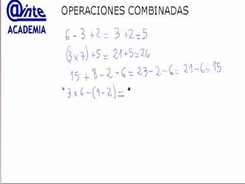 Operaciones Combinadas 5º Primaria Matematicas Ainte Youtube