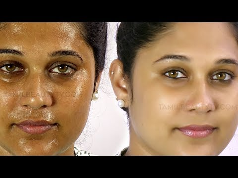 How to control oily skin - Easy Way  to Stop an Oily Face - Beauty Tips in Tamil