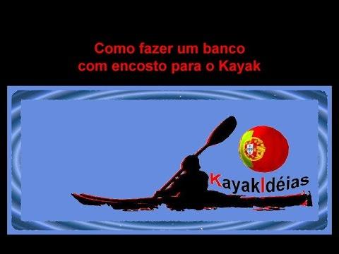 Kayak Ideias - Banco para kayak com encosto - Diy kayak Seat