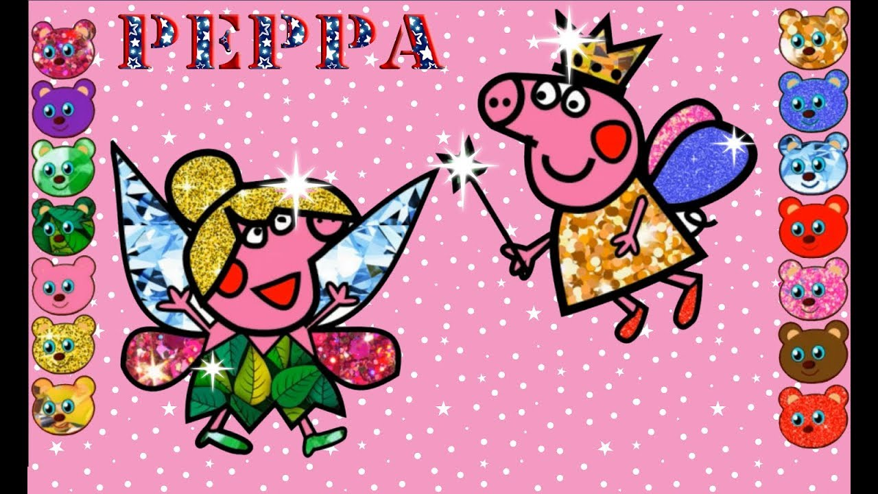 Peppa Pig Fairy & Tinkerbell Drawing and Coloring Pages/Drawing For ...