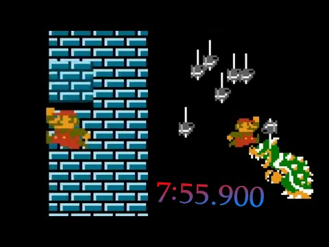 Super Mario Bros.: The Lost Levels Any% 8-4 Speedrun In 7:55.900 (without Loads)