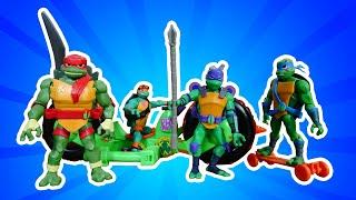 Шоу Hey, toys! В кого превратились черепашки-ниндзя? Веселое видео для мальчиков.