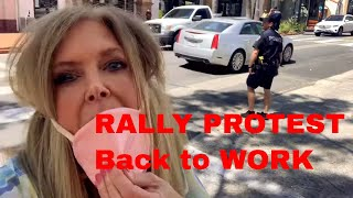 Protest Rally Maga May Day Rolling Rally for Freedom Demonstrations in Santa Barbara California