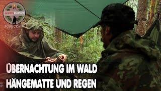 Übernachtung im Wald mit Hängematte und Regen-Hängematten Camp-Overnigter