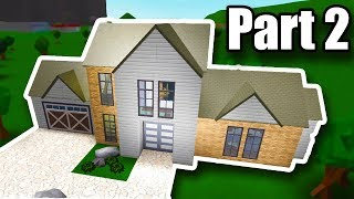 Building Tutorial: Modern House (54K) • Roblox - BloxBurg • Part 2