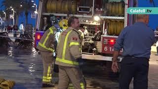 Incendi a un edifici de Calafell Platja