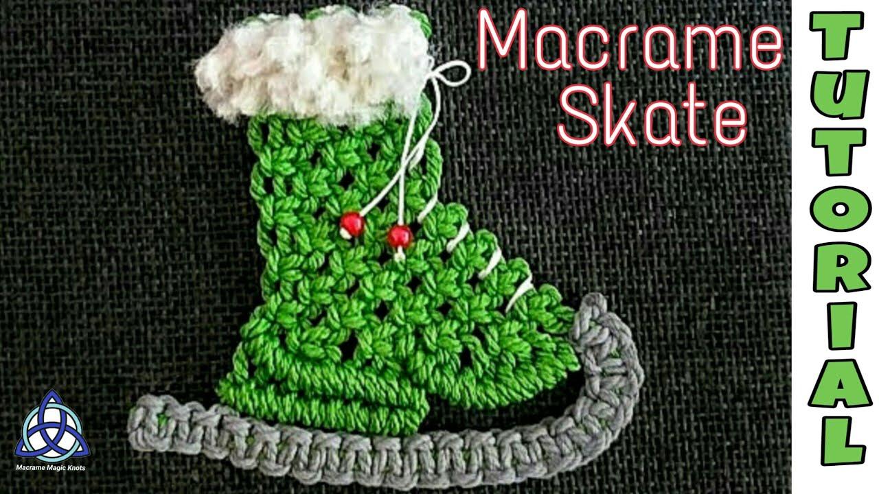 Macrame Christmas Skate Macrame Xmas Ornament Tutorial