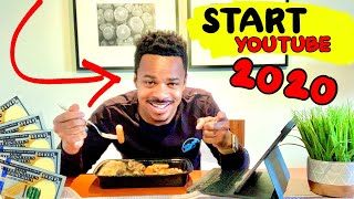 How To Start a YouTube Channel in 2020 (MAKE EASY MONEY!) [MUKBANG]