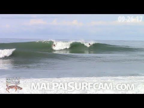 malpaisurfcam daily surf video, 09-26-17 Surfing Santa Teresa