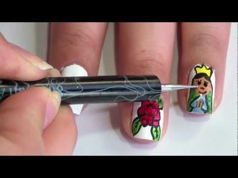 Uñas virgencita de Guadalupe - YouTube