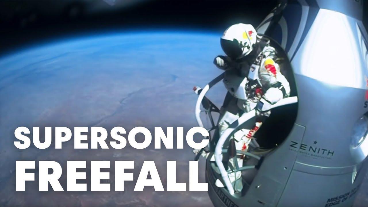 画像: Felix Baumgartner's supersonic freefall from 128k' - Mission Highlights www.youtube.com