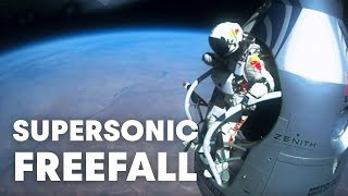 Felix Baumgartner's supersonic freefall from 128k' - Mission Highlights thumbnail