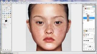 GIMP Tutorial - naturalistic skin and eye retouching