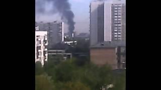 Пожар на территории ВДНХ 09.05.2015