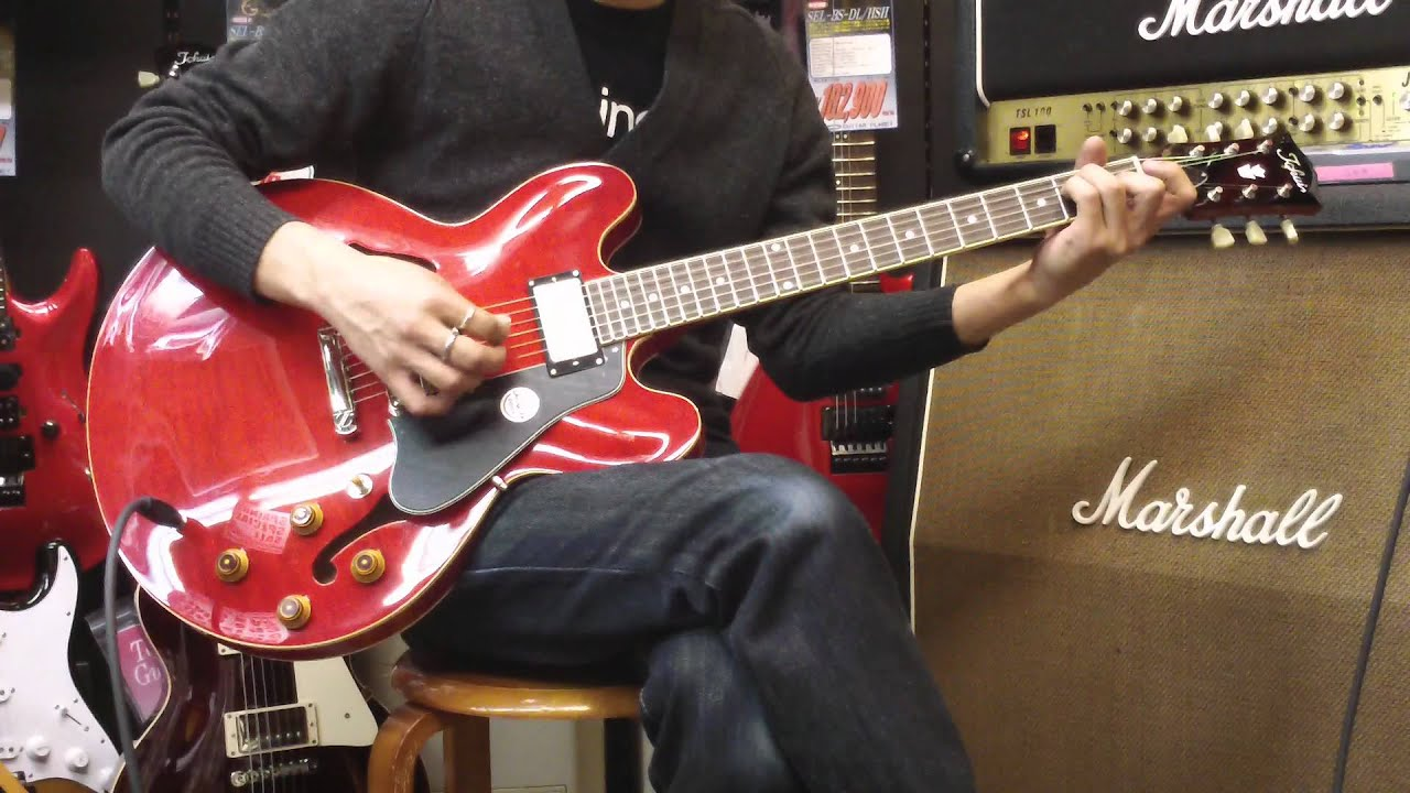 tokai es155 es 335 type ã å å ç ä guitar planetã youtube
