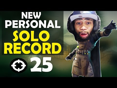 25 KILL SOLO | INTENSE & CRAZY FIGHTS | MY NEW RECORD - FUNNY GAME - (Fortnite Battle Royale)