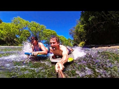 Epic Waterfall Slip and Slide, Rere Rockslide - Living a Kiw