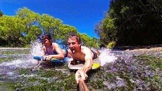 Epic Waterfall Slip And Slide, Rere Rockslide - Living A Kiwi Life - Ep. 22