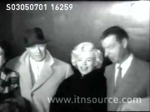 Marilyn Monroe arrives in California with  Joe DiMaggio  March 1954