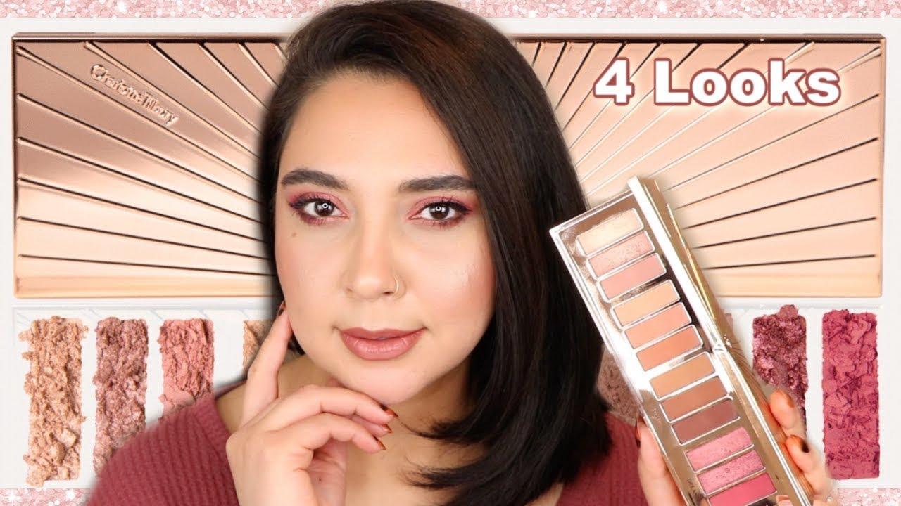 charlotte tilbury pillow talk instant eye palette 4 looks review